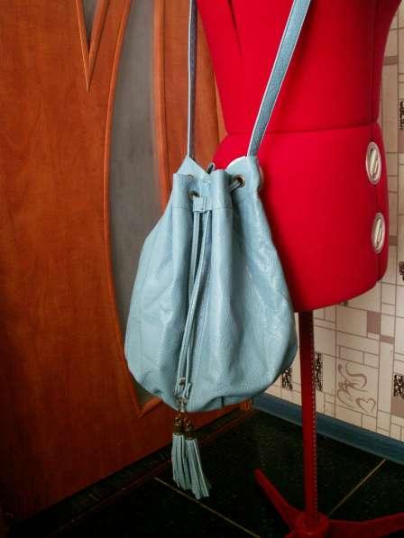 Женская сумочка-мешочек