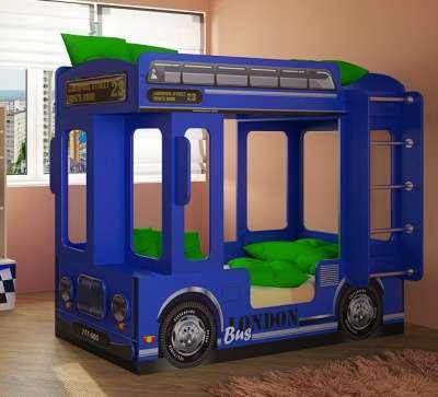 Автобус Лондон синий двухъярусная