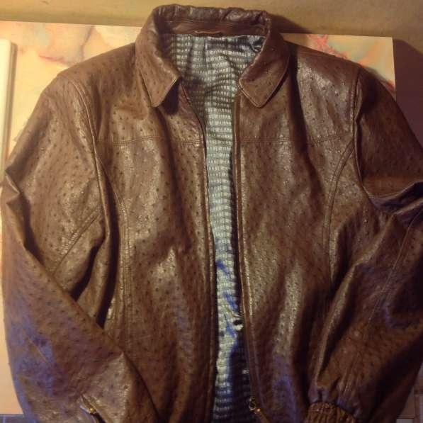 Кожаная куртка из страуса