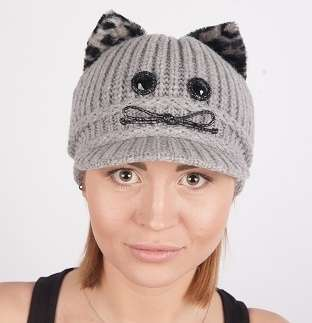 Женская трикотажная шапка мод.432