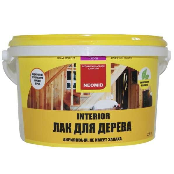Лак акриловый для древесины Неомид Interior(NEOMID Interior)