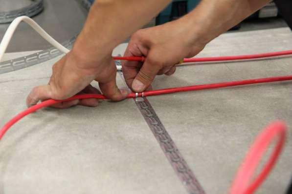 Монтаж гибкого нагревательного кабеля 1 м.пог.