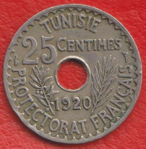 Тунис Французский 25 сантимов 1920 г.
