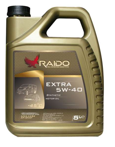RAIDO Extra 5W40 синтетическое моторное масло