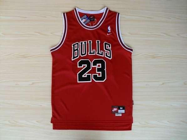 Баскетбольная майка NBA Чикаго Булс #23 красная Jordan Майкл