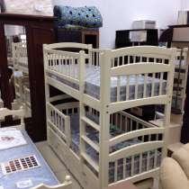 Кровать двухъярусная Карина Люкс из натурального дерева ольх, в г.Одесса