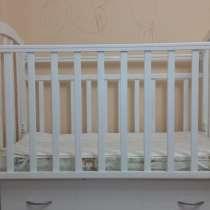 Кровать - качалка (+матрас+бортик) детская 120х60, в Одинцово