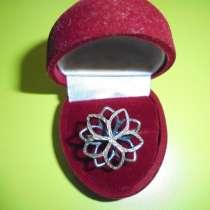 Комплект НОВЫЙ: кольцо + кулон, серебро 925, в Москве