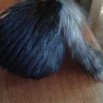 Шапка норка на вязаной с хвостом, в г.Екатеринбург