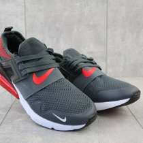 Кроссовки Nike весна-осень, мужские, текстиль, серо-красные, в г.Одесса
