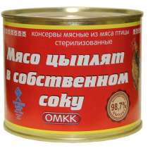 Мясо цыплят в собственном соку, 525 гр, в Санкт-Петербурге