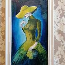 Картина Гортензия (Дама в шляпе) интерьерная живопись, масло, в Москве
