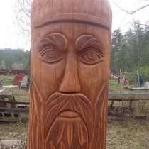 Фигура Бога из дерева, в Челябинске