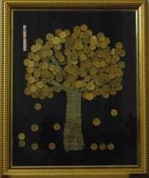 """Картина панно из монет """"Денежное дерево"""" 38х46 см, в Владикавказе"""
