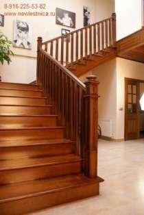 Лестницы из массива для дома и дачи Новая Лестница, в Ногинске