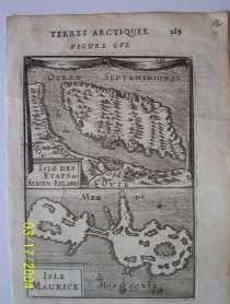 Карта Земли Арктики. Острова Etats и Maurice 1719, в г.Октябрьский
