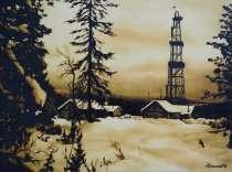 Картина нефтью, в Москве