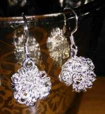 Серебрянные серьги, стиль Tiffany, в Санкт-Петербурге