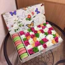 Коробочка с цветами и макарунами, в Нижнем Новгороде