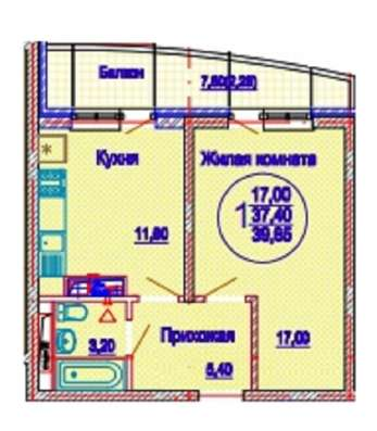 Продам 1 к. кв., г. Краснодар, ФМР, ул. Казбекская, 1
