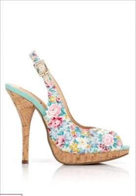 Туфельки с цветочным принтом