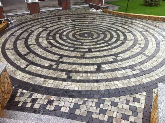 Тротуарная плитка Ретро 50мм серая