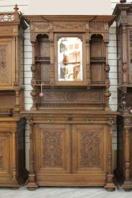 Антикварный ореховый БУФЕТ с зеркалом