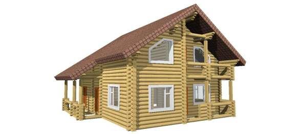 Проектирование срубов деревянных домов, брус, оцилиндровка
