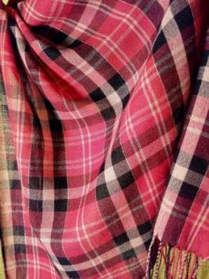 шарф в клетку розовый в Санкт-Петербурге Фото 3
