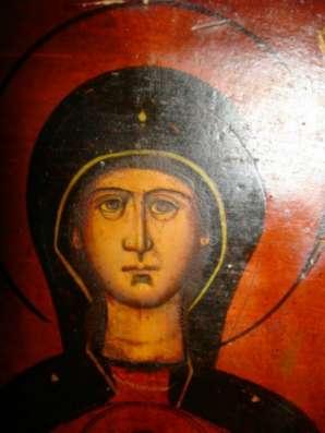 старинная икона ЗНАМЕНИЕ БОГОРОДИЦЫ,17на