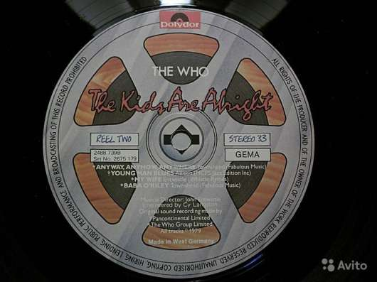 Пластинка The Who ‎– The Kids Are Alright