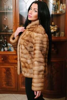 Норковая куртка автомобилка, golden pastel, 42-44 в г. Симферополь Фото 3