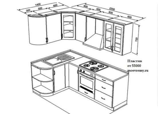 Кухни из пластмка и МДФ на заказ дешево