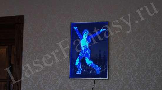 Синяя подсветка в интерьере