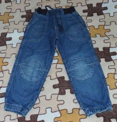 джинсы летние без подкладки пояс на резинке + в низу штанины
