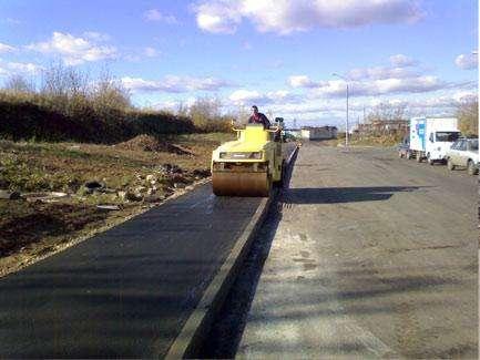 Асфальтирование дорог и укладка асфальта в Новосибирске Фото 1