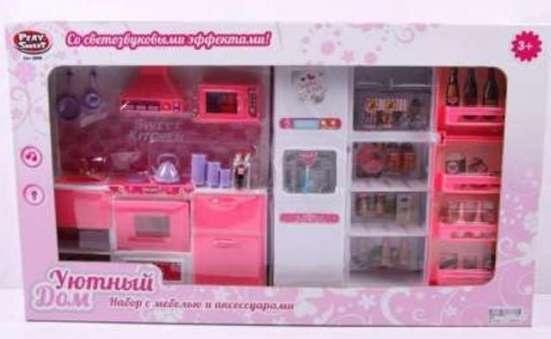 Кухня кукольная, набор мебели со светом и звуком для Барби