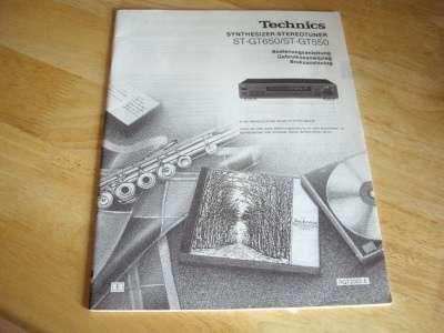 """Инструкция тюнера """"Technics ST-GT6"""