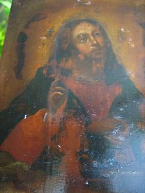 Икона. Господь Иисус Христос с хлебом и вином