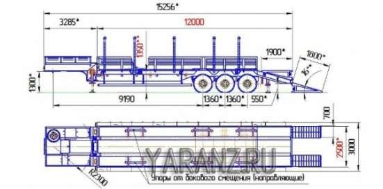 30. Трал 44 тонн,12 метров, съемные борта, раздвижные коники в Челябинске Фото 1