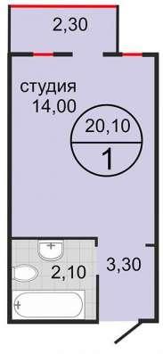 Квартира-студия 20,1 кв. м