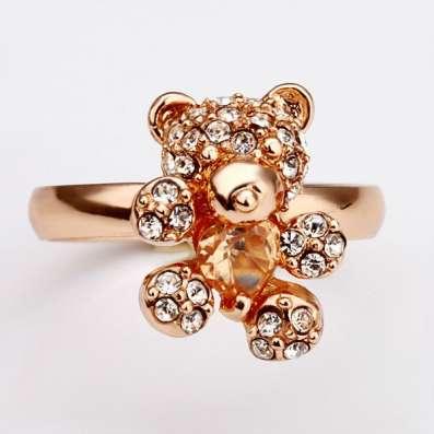 Кольцо (покрытие - розовое золото)