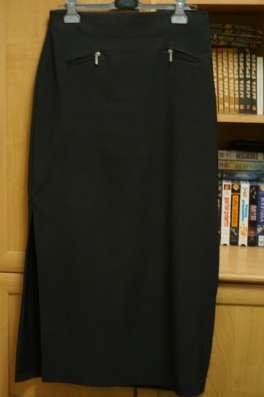 Юбка длинная, темно-серая, р.50
