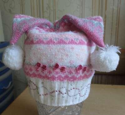 Вязанные шапки для девочки