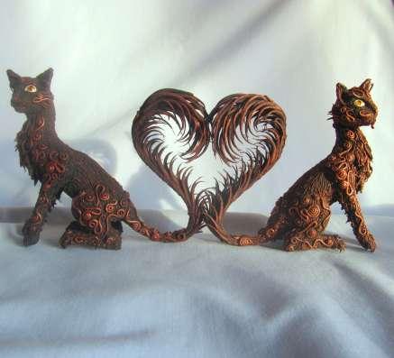 Кошки из полимерной глины в Сургуте Фото 4