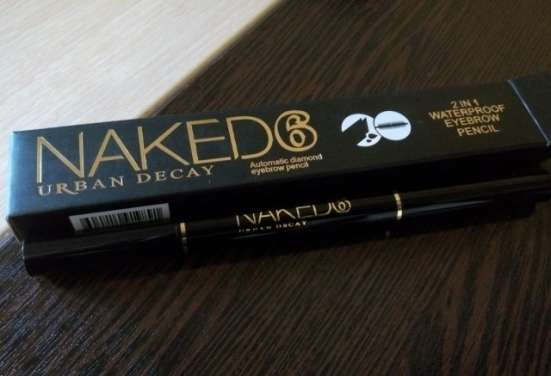 Naked 6 2 in 1 Waterproof Eyebrow Pensil для бровей