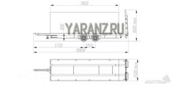 Прицеп для перевозки ГНБ, низкорамный 10,7 тонн. 7,8 метров в Челябинске Фото 1