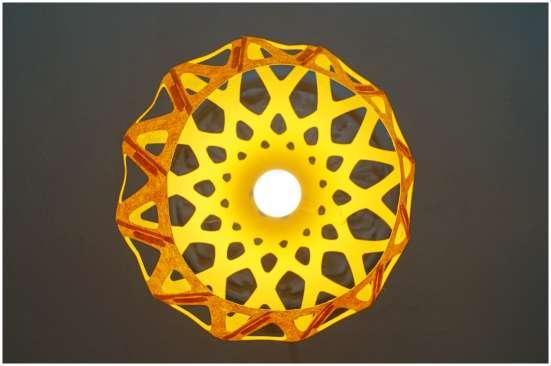 Светильник ZAHA LIGHT подвесной, желтый в Санкт-Петербурге Фото 2