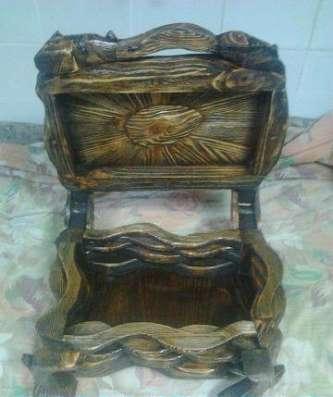 Ларец из дерева с искусственным старением ручной работы в Ярославле Фото 1