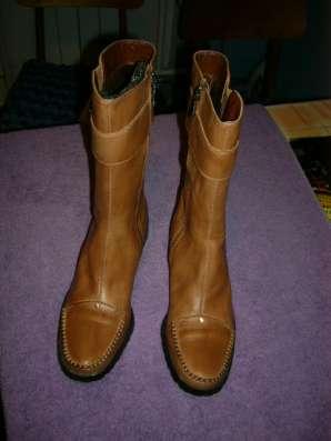 Женские тёплые кожаные сапоги Испания